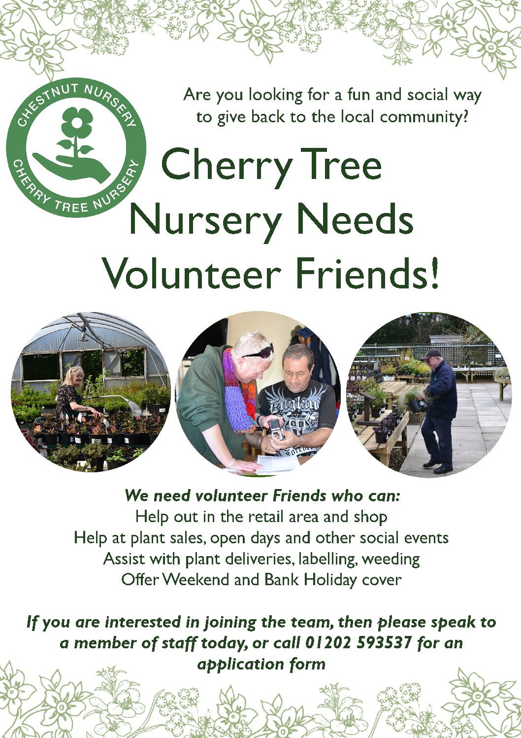 Weekend Retail Volunteer Friends needed!