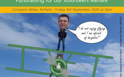 Nigel's wing walk fundraising update 20/8/20