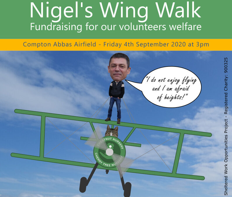 Nigel's wing walk fundraising update 20/8/20